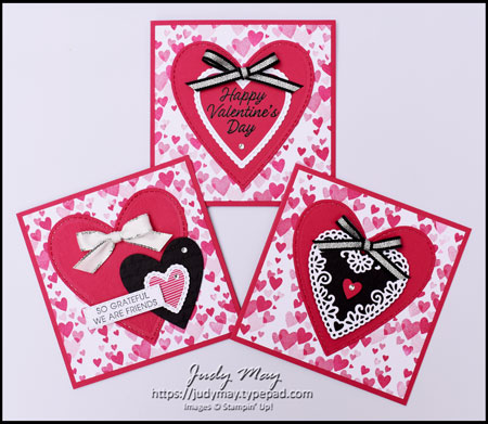 Stampin' Up! Meant To Be & Stitched Be Mine Dies - Judy May, Just Judy Designs