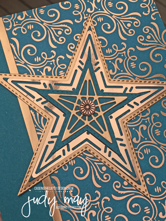 Stampin' Up! Brightly Gleaming Specialty DSP & Foil Elements, Stitched Stars Dies - Judy May, Just Judy Designs, Melbourne
