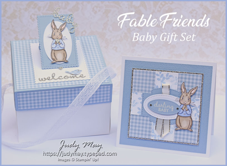 Stampin' Up! Fable Friends New Baby Gift Set, Tutorial Available - Judy May, Just Judy Designs, Melbourne