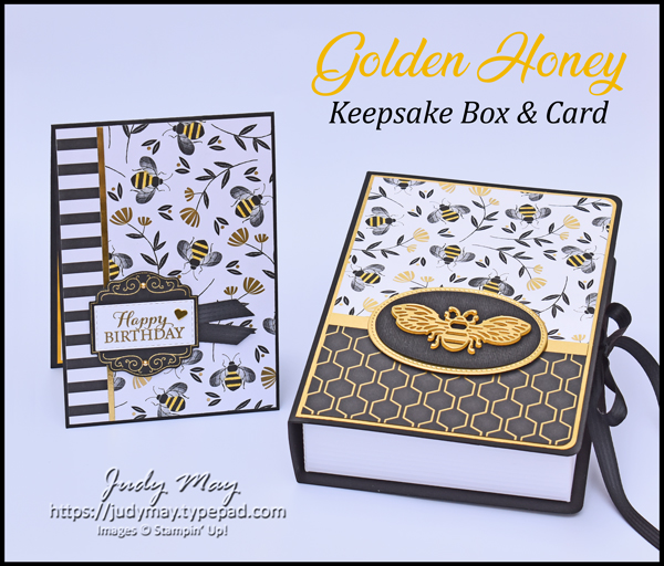 Stampin' Up! Honey Keepsake Box and Card - Judy May, Just Judy Designs, Melbourne