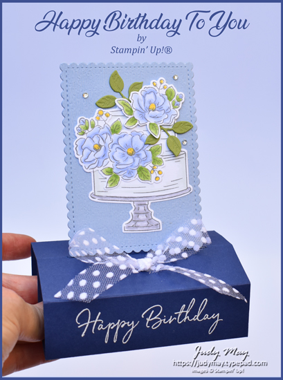 Stampin' Up! Happy Birthday To You Trophy Fancy Fold - Judy May, Just Judy Designs, Melbourne