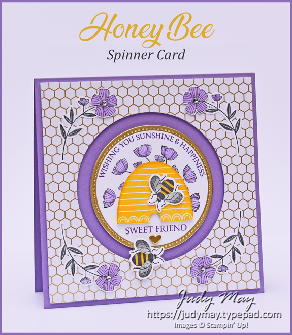 Stampin' Up! Honey Bee Bundle & Golden Honey Specialty DSP - Judy May, Just Judy Designs, Melbourne