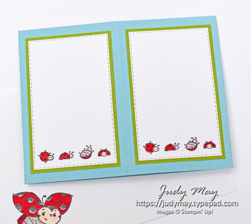 Stampin' Up! Little Ladybug Fancy Fold - Judy May, Just Judy Designs, Melbourne