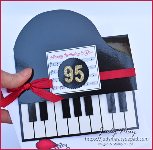 Stampin' Up! Music From My Heart, Piano Easel Card - Judy May, Just Judy Designs, Melbourne