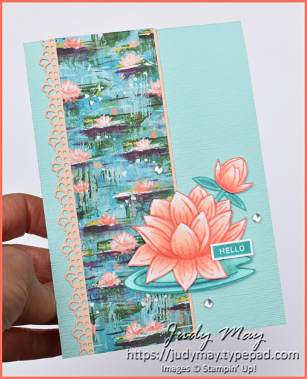 Stampin' Up! Lovely Lily Pad, Lily Impressions DSP & Ornate Borders Dies - Judy May, Just Judy Designs, Melbourne