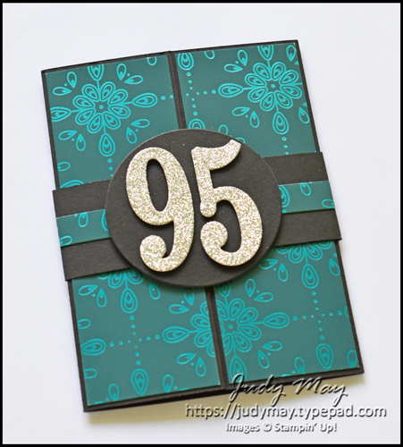 Stampin' Up! Noble Peacock Specialty DSP Gatefold Invitations - Judy May, Just Judy Designs, Melbourne