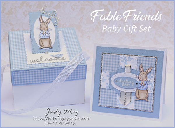 Stampin' Up! Fable Friends Baby Gift Set - Judy May, Just Judy Designs, Melbourne