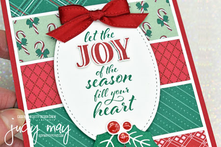 Stampin' Up! 'Tis The Season DSP & Wrapped In Christmas -  Judy May, Just Judy Designs, Melbourne