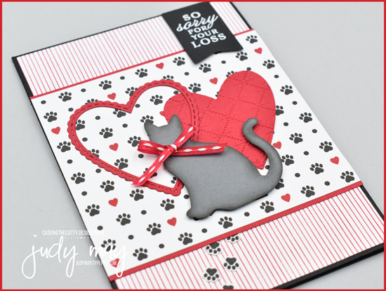 Stampin' Up! Playful Pets Sympathy Card - Judy May, Just Judy Designs, Melbourne