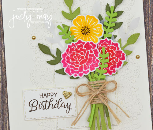 Stampin' Up! Beautiful Bouquet & Bouquet Bunch Dies - Judy May, Just Judy Designs, Melbourne