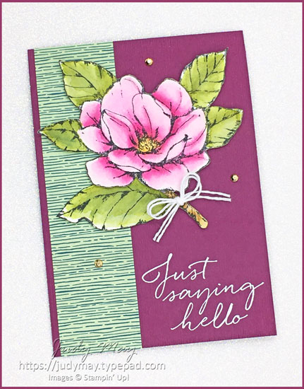 Stampin' Up! Good Morning Magnolia & Forevery Greenery DSP - Judy May, Just Judy Designs, Melbourne