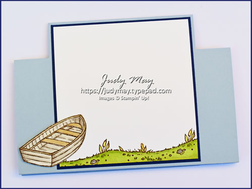 Stampin' Up! By the Dock Centre Step Easel Fancy Fold - Judy May, Just Judy Designs, Melbourne