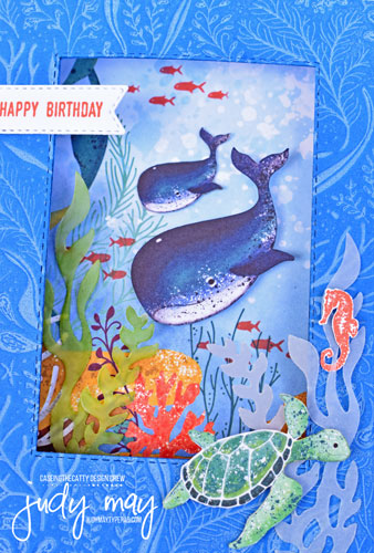 Stampin' Up! Whale Of A Time Suite Diorama Card - Judy May, Just Judy Designs, Melbourne, #diorama