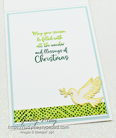 Stampin' Up! Dove of Hope | Joy Dies | Wreath Builder Dies - Judy May, Just Judy Designs, Melbourne