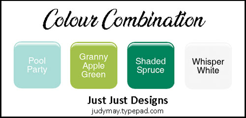 Granny Apple Green Colour Combo - Judy May, Just Judy Designs, Melbourne