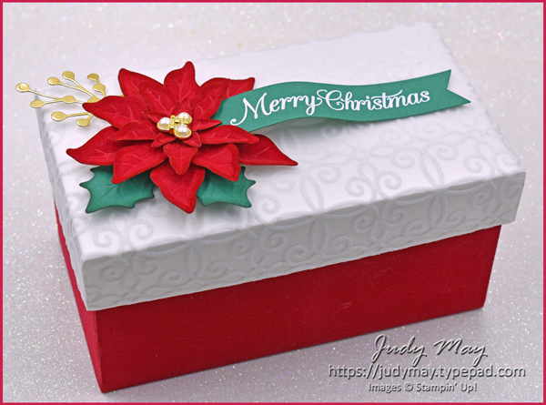 Stampin' Up! Poinsettia Place Suite Gift Box - Judy May, Just Judy Designs, Melbourne