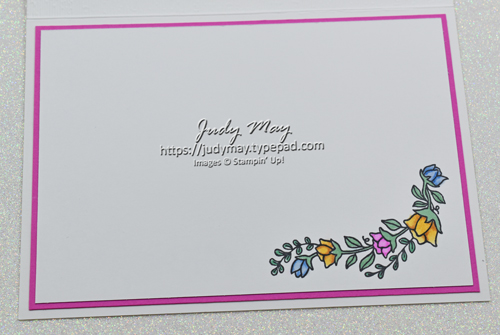 Stampin' Up! Flowers For Every Season DSP & Quite Curvy - Judy May, Just Judy Designs, Melbourne