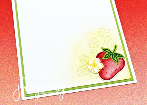 Stampin' Up! Sweet Strawberry Bundle for CASE-ing the Catty | Judy May, Just Judy Designs