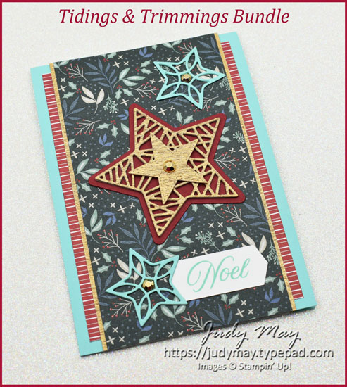 Stampin' Up! Tidings & Trimmings Bundle for Heart of Christmas | Judy May, Just Judy Designs, Toowoomba