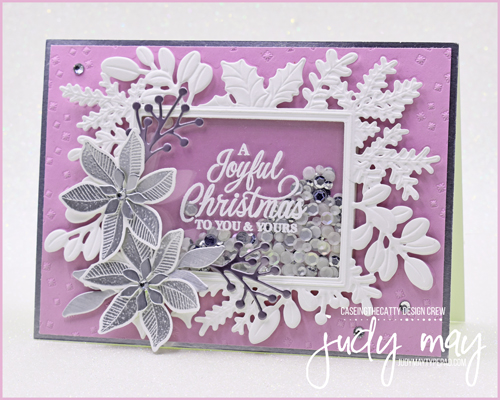 Stampin' Up! Merriest Moments Bundle Christmas Shaker Card   Judy May, Just Judy Designs