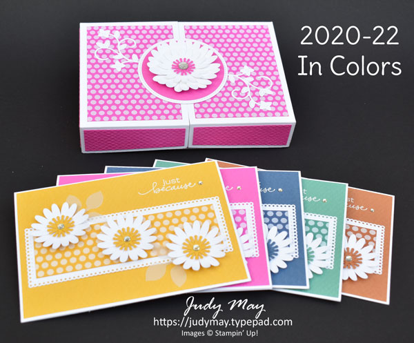 Stampin' Up! 2020-22 In Colors Box Set of Cards | Tutorial Available | Judy May, Judy Judy Designs, Melbourne |  #2020InColors