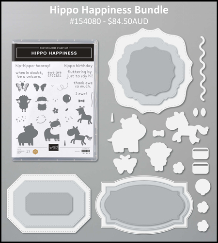 Stampin' Up! Hippo Happiness Bundle - Judy May, Just Judy Designs
