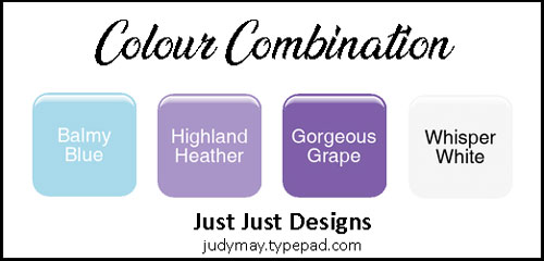 Stampin' Up! Highland Heather Colour Combo - Judy May, Just Judy Designs, Melbourne