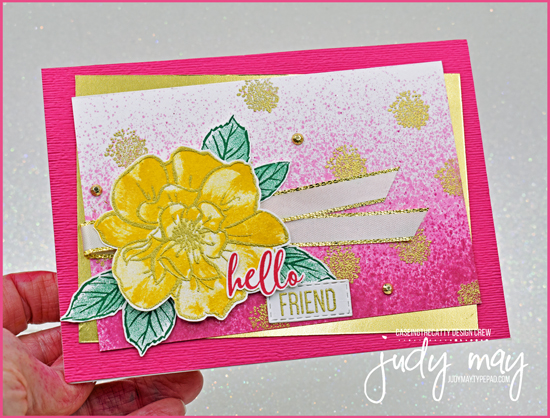 Stampin' Up! To A Wild Rose Friendship Card | Judy May, Just Judy Designs, Melbourne
