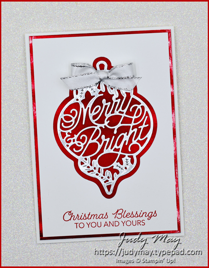 Stampin' Up! Delicate Bauble Dies | Judy May, Just Judy Designs