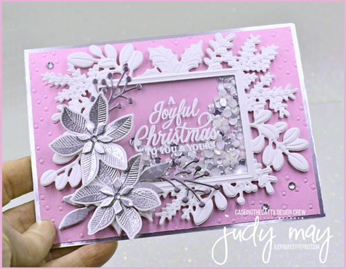 Stampin' Up! Merriest Moments Bundle Shaker Christmas Card   Judy May, Just Judy Designs